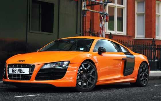 audi, orange, desktop