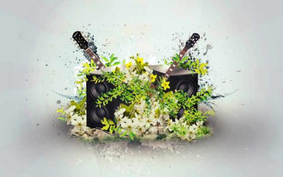музыка, цветы