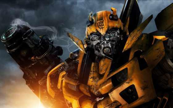 трансформеры, бамблби, фильмы, robot, transformers, bumblebee, side, машина, луны,