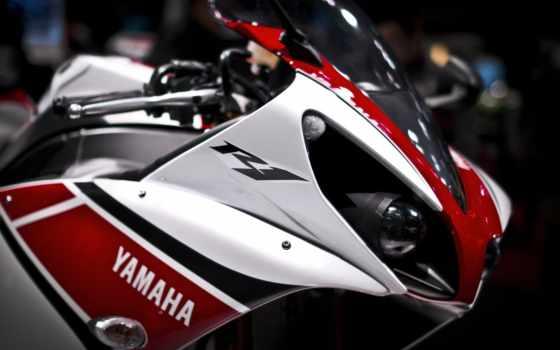 yamaha, yzf, мотоцикл
