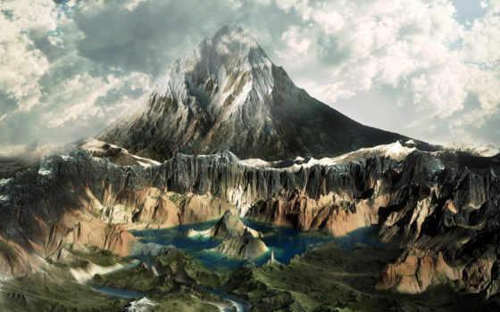 горы, iphone, озеро, красавица, mike, страница, oblaka, aalborg, гор, tech,
