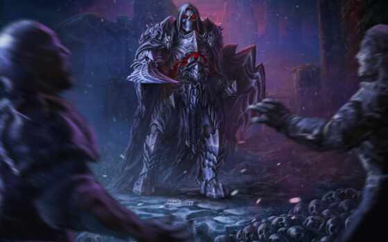barbarian, revenant, ночь, меч, воин, fantastic, нежить