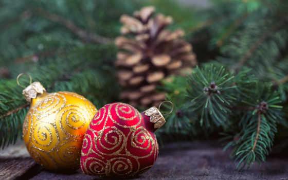 елочные игрушки, новый год, шишка
