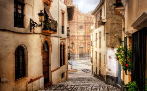 испания, город, дома