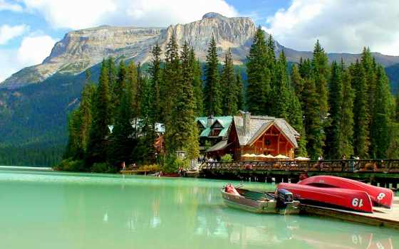 emerald, озеро, boats
