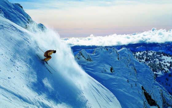 спуск, горы, горные