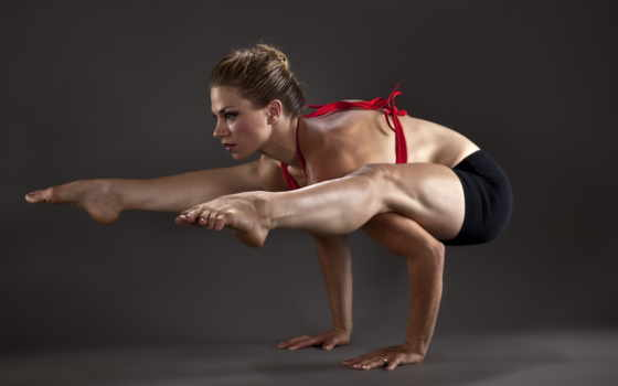 спорт, девушка, гимнастика
