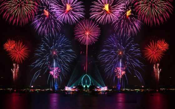 салют, город, огни, города, iphone, fireworks, ночь, подборка, ежедневная,