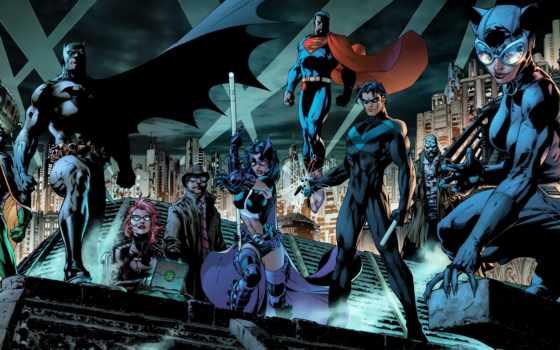batman, nightwing, superman, them,