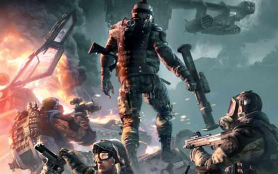 оружие, shootout, warface, военные, вертолет, crytek, дым, огонь, бронежилет, акпп, бой,