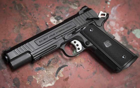 salient, arms, международный, пистолет, оружие, полуавтоматичес, армия, colt,