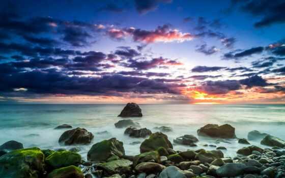ponta, сол, madeira, остров, закат, самый, free, красивый, possible,