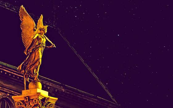 статуя, angel, ночь, photoshop, youtube, new, sculpture, lyric, build, dimension