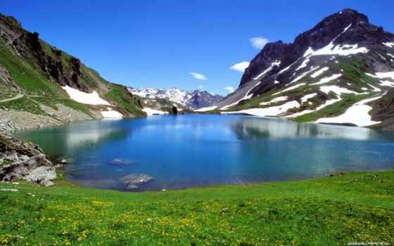 pack, цветы, снег, долина, трава, озеро, nature, небо, photography, горы, natural, korogan, part, inspiring, landscapes,