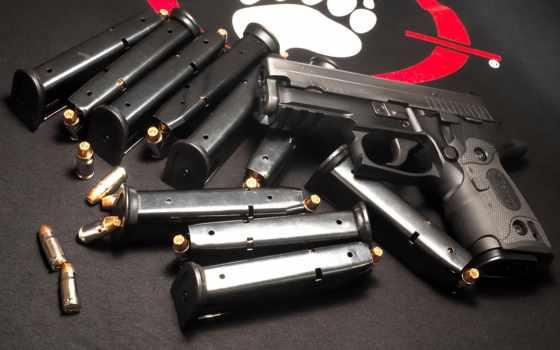 пістолет, патроны, просмотреть