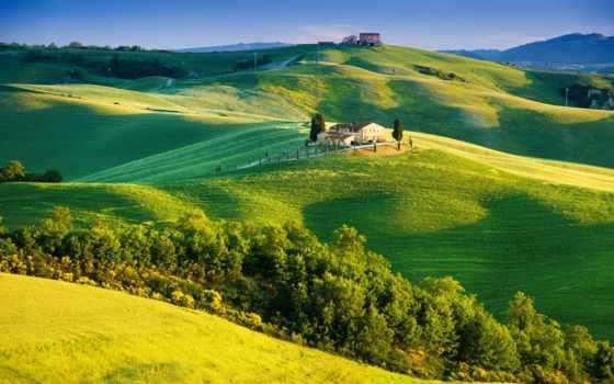 природа, вездеход, italian, tuscany, trees, сельская, зелёный, зеленые, небо, солнечный, свет,