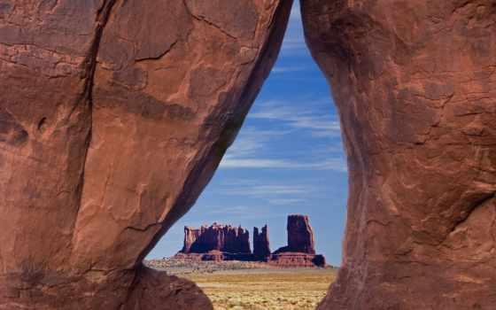 памятник, долина, utah, arizona, usa, камень, teardrop, навахо,