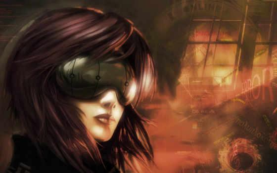 anime, cyberpunk, devushki