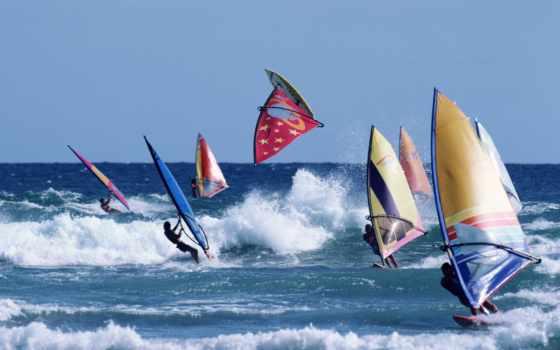 windsurf, море