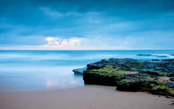 природа, красивые, ocean, море, восход, берег, clouds, песчаный, галереи, дорога, моря,