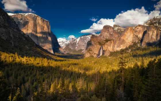 горы, yosemite, park, national, заставки, лес, долина, alcatel, горные, landscape,