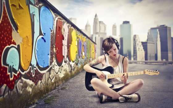 гитара, you, девушка,