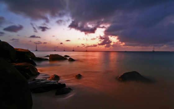 landscape, картинку, телефон, небо, пейзажи -, обоях, назад, добавлено, лет, море, вечер,