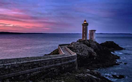 море, lighthouse, закат, лучшая, небо, коллекция, you, загружено, уже,