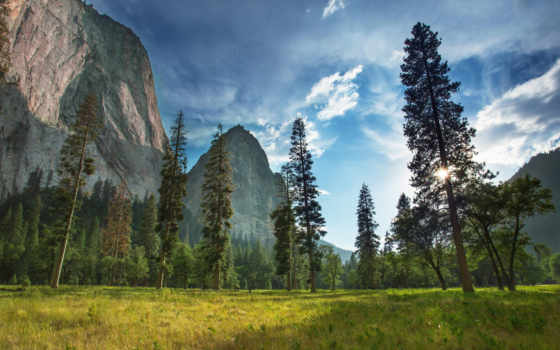 park, national, yosemite, национальный,