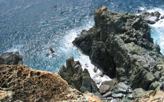 break, море, скалы