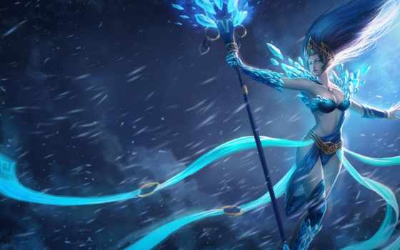league, legends, снег, pinterest, queen, art, lol, janna,