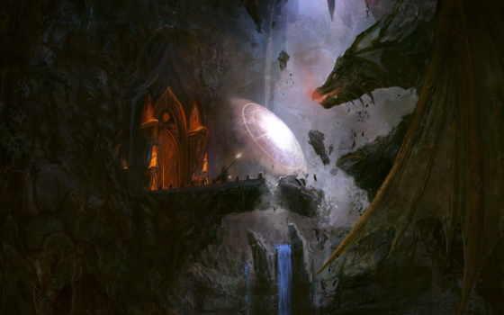 дракон, fantasy, маг