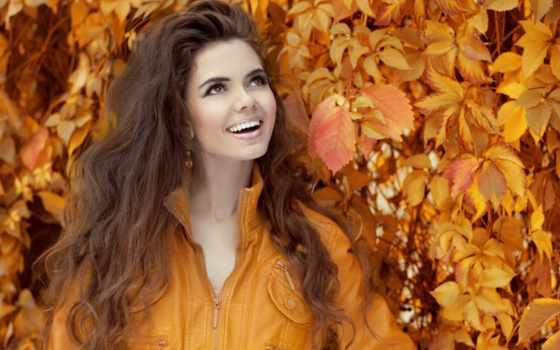 stock, осень, images, mujer, девушка, morena, otoño, sonriente, sobre,