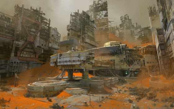 destiny, город, buried, art, bungie, concept, beta,
