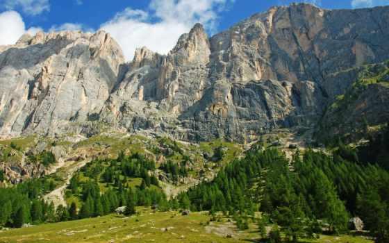 italian, скалы, горы, parede, tema, naturaleza, para, trees, долина, альпы,