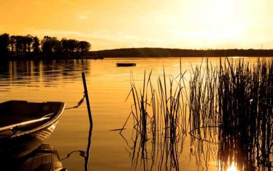 озеро, умиротворение, лодка, побережье, закат, улыбка, радость, napolnennost, удовольствие, tax, цены
