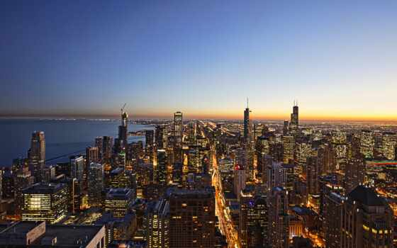 город, chicago, much, populous, state, official