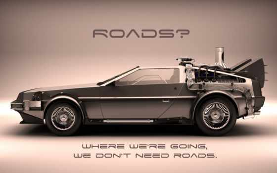 delorean, dmc, to, back, future, wallpaper, hd, roads, назад, будущее,