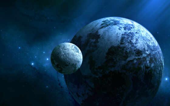 планета, звезды, glimpse, спутник, universe, космос, холод, планеты, joejesus, wide, свет,
