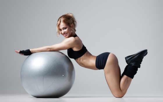 фитнес, клипарт, девушка, спортивная, гантелями,