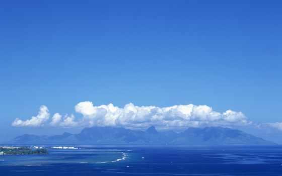 небо, море, красивое