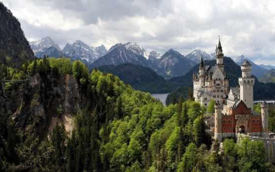 замок, горы, замки