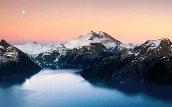 горы, канада, winter