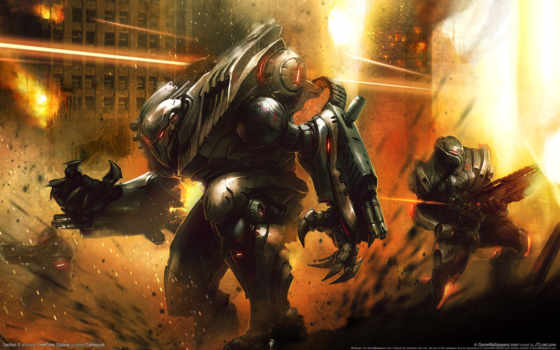 robot, combat, игр