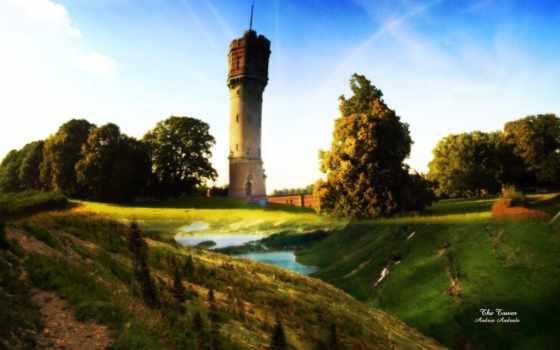 deviantart, деревня, high, качество, фото, park, art, башня,