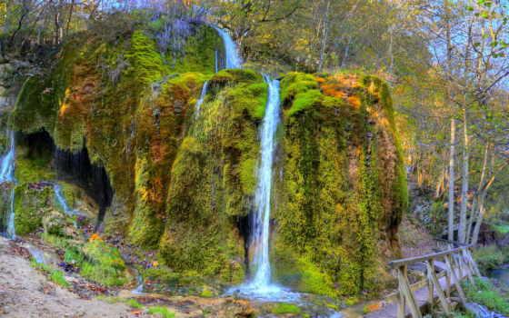 водопады, природа, texas, botanical, zilker, искусственный,
