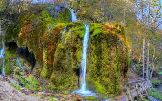 водопады, природа, texas