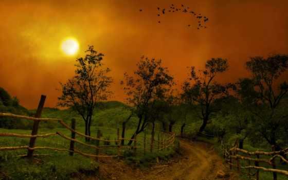 noche, carretera, paisaje, fondos, luna, gratis, pantalla, naturaleza, montañas, paisajes,