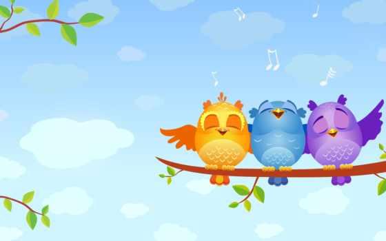 птицы, поющие, zhivotnye, птица, певчие, птиц, ку,