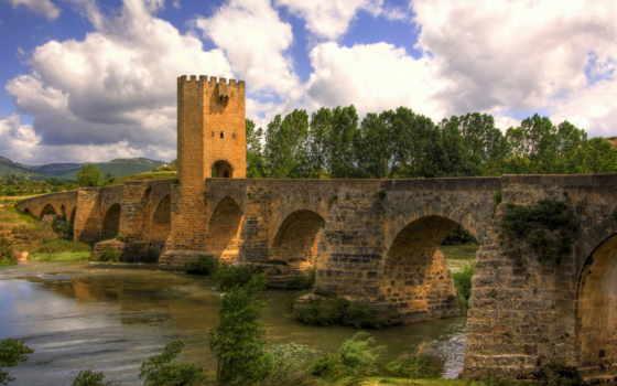 puente, españa, pantalla, frías, fondo, viejo, fondos, viajes, río, мост,